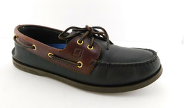 SPERRY TOPSIDER Size 11.5 Black & Brown Boat Loafers Shoes 11 1/2 - $45.00