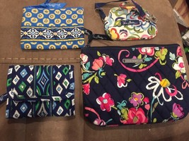 VERA BRADLEY  Lot of 4  Bifold Wallet Pouches Coin/ID Purse - $18.65