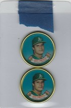 1988 Topps Coins A's Jose Canseco Lot of 2 - $1.42
