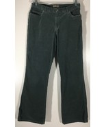 Women's Corduroy Jeans Size 2 i.e. Green-Gray Relaxed Fit - $15.83