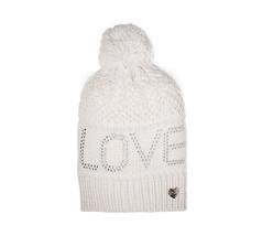 Betsey Johnson Ivy LOVE Pom-Pom Beanie Knit Hat NWTS - $21.78