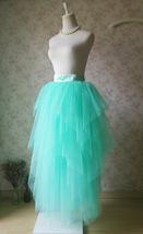 Adult Princess Skirt Mint Green Aqua Long Tulle Skirt Prom Skirt Plus Size NWT image 4