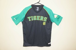 NWT Stitches Detroit Tigers Black/Green/White/Yellow Mesh V-Neck Jersey Shirt - $14.24
