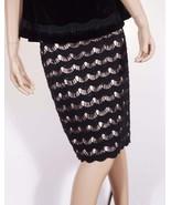 Kate Spade Womens Black Tan Lace Geometric Lined A Line Knee Length Skirt - $58.39