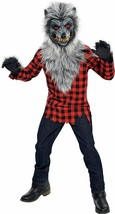 Amscan Hungry Howler Werewolf Mask Plaid Shirt Boys Childrens Halloween Costume - $39.99