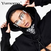 Fashion Siamese Futuristic Wrap Around Monob Costume Sunglasses Luxury Brand Des image 3