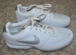 NIKE Women's 314914 Sport Performance Leather White & Silver Spike Golf ... - $49.50