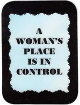 "A Woman's Place Is In Control 3"" x 4"" Love Note Humorous Sayings Pocket Card, Gr - $2.69"