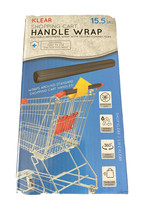 Klear Shopping Cart Handle Wrap Reusable Guard Cover Gray with Travel Case - $7.43