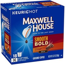 MAXWELL HOUSE Smooth Bold, K-CUP Pods Coffee, 18 Count - $24.05