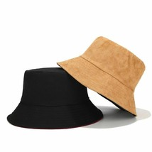 Bucket Hats Wide-brimmed for Unisex Solid Color Double-sided Outdoor Vis... - $11.99