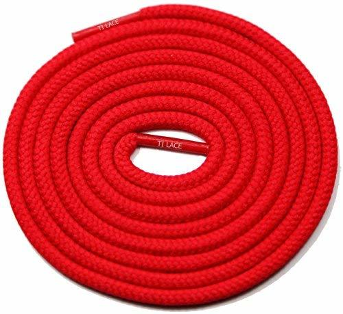 "Primary image for 54"" Red 3/16 Round Thick Shoelace For All Unisex 3/16 Round Thick Shoes"