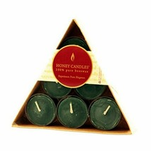 Honey Candle Co. Pure Beeswax Candles Tea Lights Triangle Pack 6 count, Green - $15.15