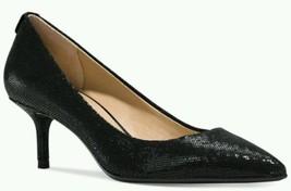 MICHAEL MICHAEL KORS Flex Black Glitter Kitten Heels Size USA 7.5 EU 38.5 - $62.70