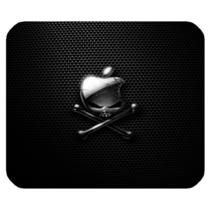 Mouse Pad Apple Logo With Black Elegant Skull Design Horror Game Animation - $6.00