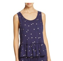 SPLENDID Intimates SLEEP Ruffled STAR Print POCKET Tank TOP Navy / Gold ... - $44.83