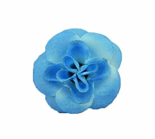 4 Pieces Of Cute Handmade Jewelry Adjustable Small Blue Rose Ring