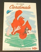 1959 St. Louis Cardinals Baseball Program v Phillies Scored Game #44 - $24.75