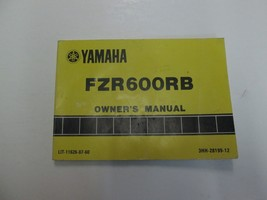 1991 Yamaha FZR600RB Motorcycle Owners Manual Worn Stained Factory Oem Deal *** - $17.41