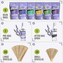 Hard Wax Beans Kit [6 Bags + Pre & After Spray] Hard Wax Beads Hair Removal - Wa image 2