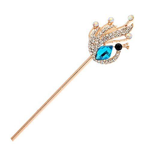Hairpin Noble Peacock Pattern Alloy Diamond Lady Hair Ornaments