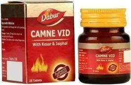 25 Tablet Dabur Camne Vid Kesar & Jaiphal Strength & Stamina Kamini Vidr... - $23.71