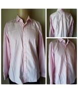 The Savile Row Company London Men's Dress Shirt Pink Long Sleeve Button ... - $37.19