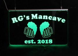 Personalized Beer Mug Bar Sign, Man Cave Sign, Game Room Sign image 2