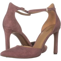 MICHAEL Michael Kors Lisa Pump Ankle Strap Heels 110, Dusty Rose Suede, ... - $39.35