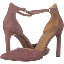 MICHAEL Michael Kors Lisa Pump Ankle Strap Heels 110, Dusty Rose Suede, ... - $39.35