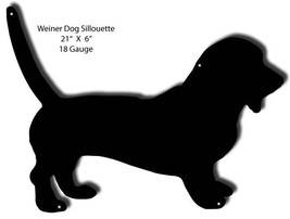 Weiner Dog Silhouette Laser Cut Out Of Metal 16x21 - $39.60