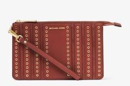 Michael Kors Brooklyn Grommet Medium Wristlet in Brick retails $148 new ... - $88.11