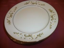 Mikasa ANDREA  4   dessert plates    White flowers Silver trim - $11.88