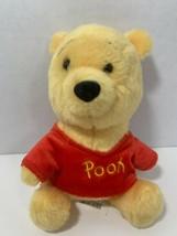 Disney Store Winnie the Pooh small plush soft teddy bear red shirt W/par... - $6.92