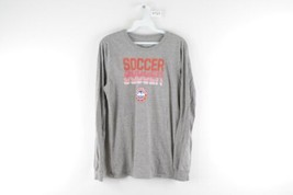 Nike Soccer Mens Small Athletic Cut Mini Swoosh Spell Out Long Sleeve Sh... - $19.75