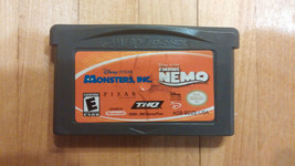 Finding Nemo Monsters Inc. Complete Game Boy Advance Nintendo Disney games - $5.26