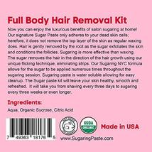 Sugaring Hair Removal Waxing Kit - Organic Sugaring Paste for Brazilian, Legs, A image 7