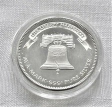 1984 1 oz. Silver A-Mark Life Liberty Happiness Round in Capsule - $45.00