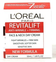 1 L'Oreal Paris 1.69 Oz Revitalift Anti Wrinkle Firming Face & Neck Day ... - $23.99