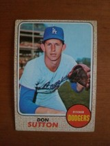1968 Topps 103 Don Sutton HOF Dodgers Crease Free - $3.47