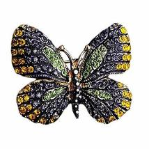 Colorful Shine Jewelry Brooches Butterfly Breastpin Rhinestone Women Brooch Pins