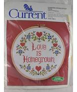 Vintage Current 7086-2 Counted Cross Stitch Hoop Kit Love Is Homegrown 7... - $13.85
