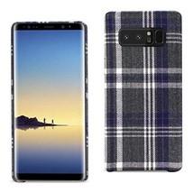 Reiko Samsung Galaxy Note 8 Checked Fabric In Black - $10.09