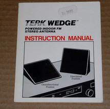 Terk Wedge Antenna Instruction Manual Vintage 1990 - $9.99
