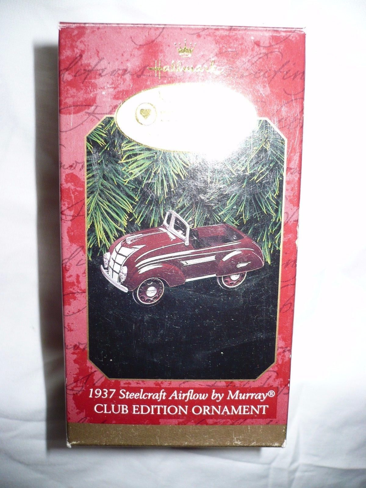 Primary image for Hallmark Keepsake Ornament 1937 Steelcraft Airflow by Murray  Club Edition