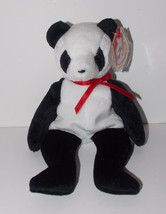 Ty Beanie Baby Fortune Plush 8in Panda Bear Stuffed Animal Retired with Tag 1998 - $9.99