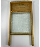 Vintage Crystal Cascade Glass Washboard No. 2080, Columbus Washboard Co.... - $46.74