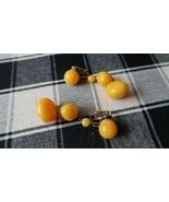 Vintage Butterscotch Yolk FAUX Amber Dangle Earrings 5.5cm - $13.86