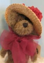 "JOINTED PLUSH 6"" Boyds Bears Garden Friends BURGANDY ""GINNIE HIGGENTHROPE"" - $19.80"