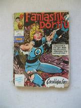 fantastic four marvel comic turkish edition ultra rare old antique - $19.79